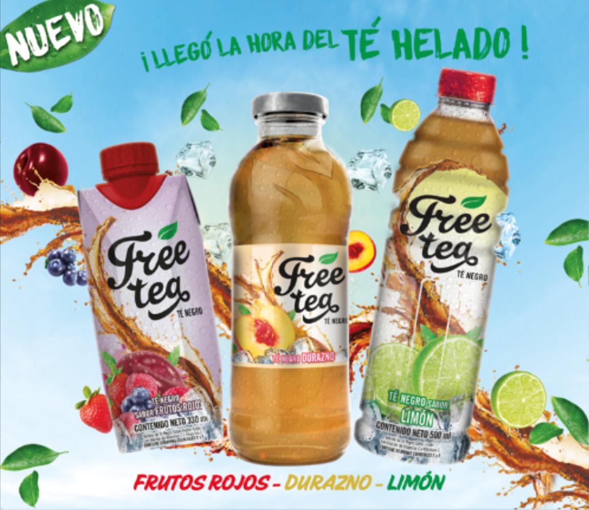 aje presenta nuevo producto free tea té negro mercadonegro
