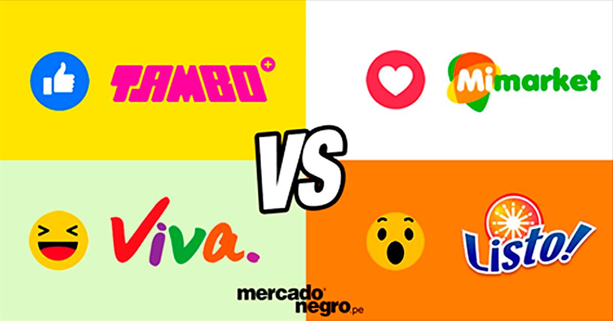 7d8b7ed167b Guerra de marcas  Tambo+ vs. Listo vs. Viva vs. Mimarket
