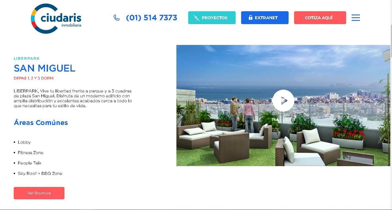 Staff digital redise a el portal de ciudaris inmobiliaria for El portal inmobiliaria
