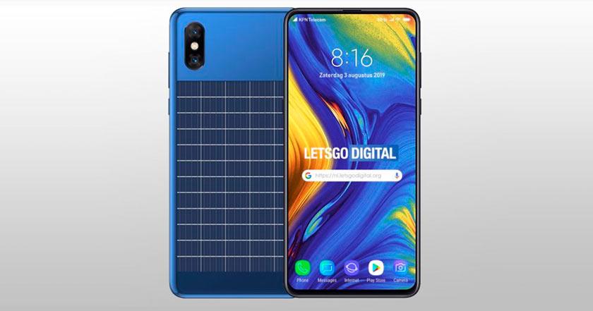 Xiaomi patenta smartphone que recarga su batería con luz solar