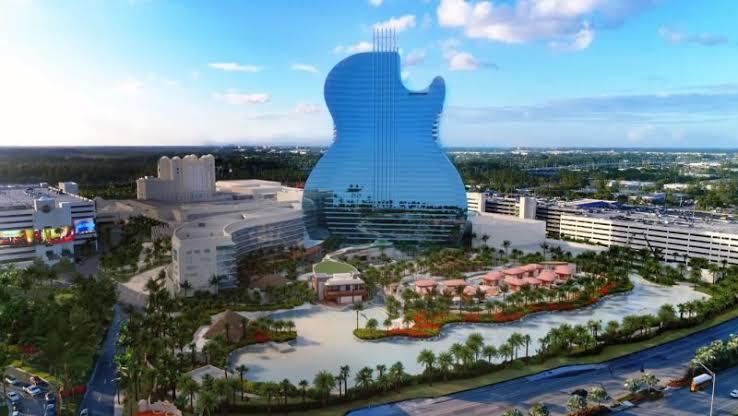 Primer hotel en forma de guitarra revoluciona la industria a nivel global