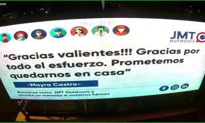 JMT OUTDOORS transmitirá mensajes de aliento a través de sus paneles digitales